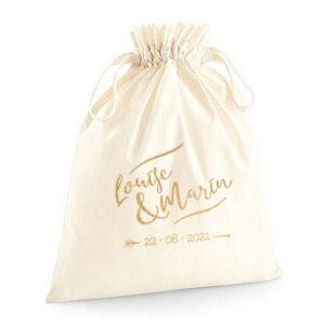 pochette zéro déchet en coton bio modèle Lou