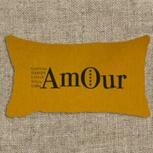 coussin amour personnalisable