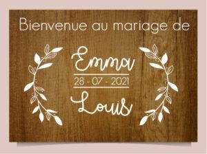 panneau déco en bois mariage Brindilles