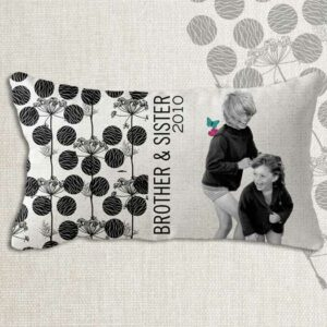 Coussin photo personnalisable