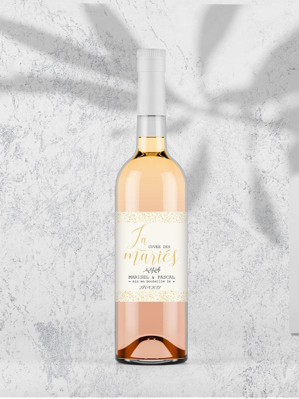 étiquette bouteille rosé a personnaliser