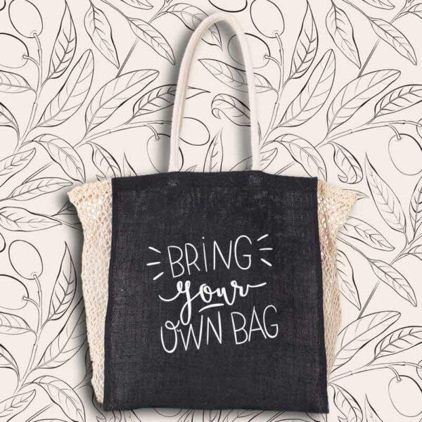 Sac courses du marché réutilisable et joli bring your own bag