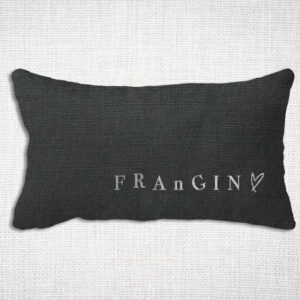 housse coussin lin lavé rectangle joli design Frangin
