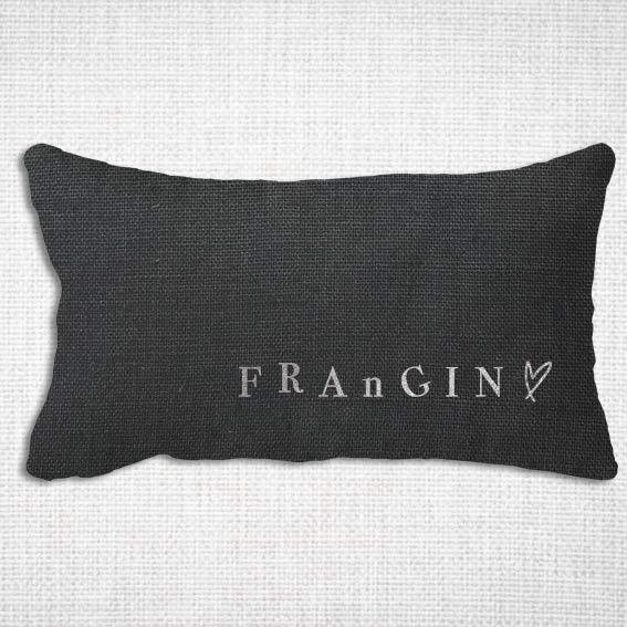 housse coussin lin lavé rectangle joli design Frangin