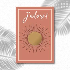 Carte à gratter surprise et message personnalisé J'adore