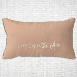 Housse de coussin en Lin lavé love is in the air