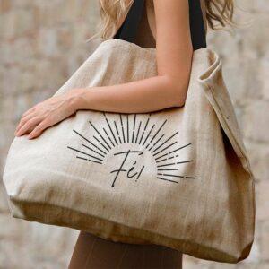 """grand sac cabas très grande capacité et résistant """"Fé"""""""