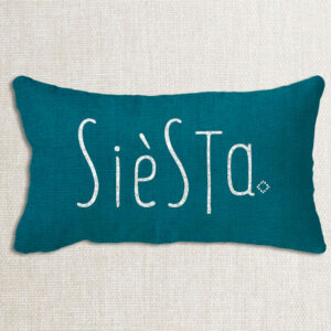Housse coussin lin lavé rectangle joli design rectangle Siesta