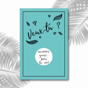 Carte à gratter message original surprise Veux tu blanc
