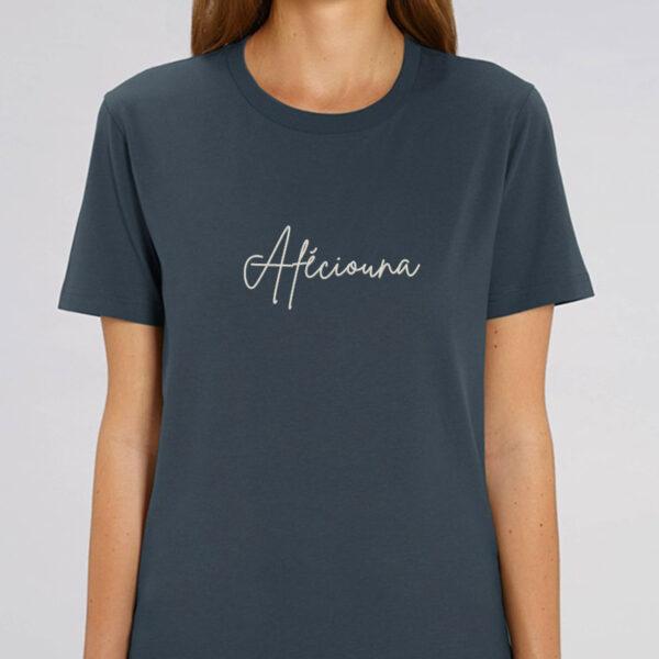 "T-shirt coton bio personnalisé Montpellier ""Afeciouna"" femme"