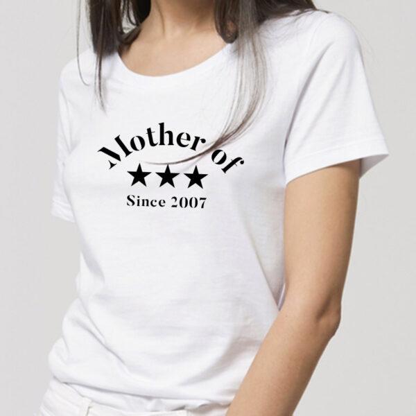 T-shirt personnalisé pour maman en coton bio texte noir