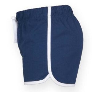 short de sport short de danse en coton bleu manapongo