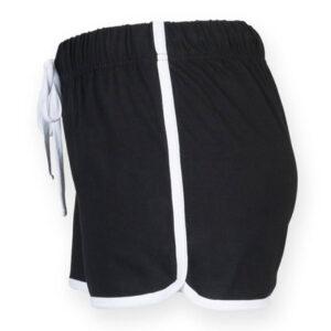 short de sport short de danse en coton noir manapongo