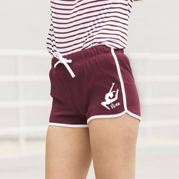 short short de sport short de danse en coton rouge manapongo