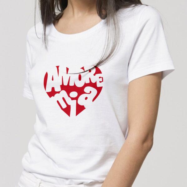 T-shirt femme 100% coton biologique col rond personnalisé