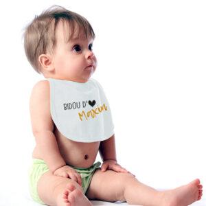 bébé_Bavoir_coton_bio_personnalisable_blanc01